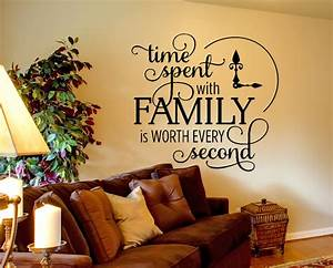 family wall decal time spent quote wall decal inspirational With family wall decal