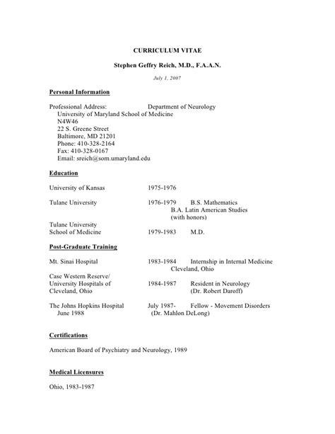 Neurology Resume by Neurology Medicine Resume Template Resumes Design