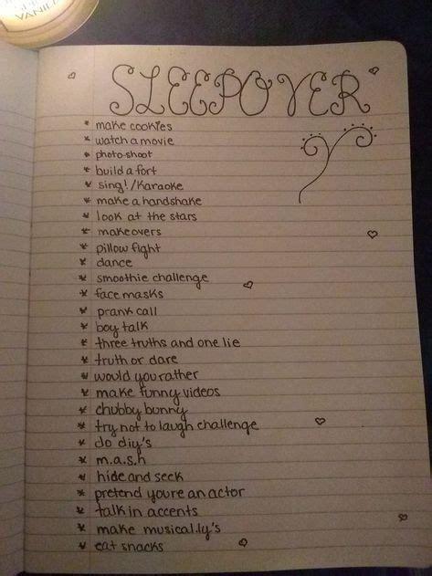 ideas       sleepover sleepoverideas