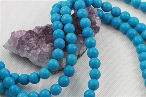 howlite turquoise loose beads  mm sleeping
