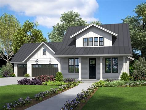 034H 0457: Country Two Story House Plan; 4 Bedrooms 3