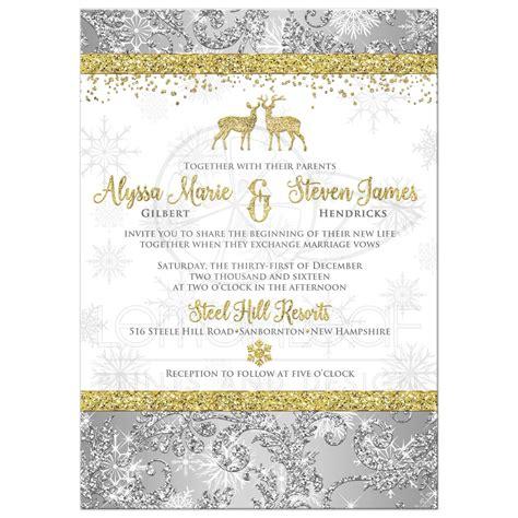 wedding invitation optional photo template silver