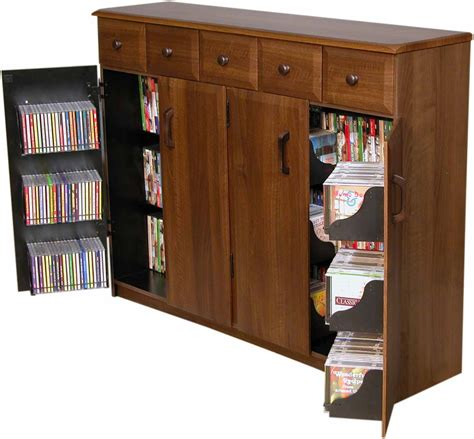 cabinet with tv rack cd dvd storage cabinet rack tv stand w drawers new ebay