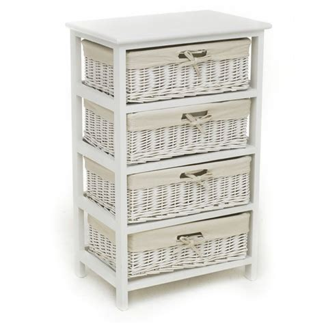 White Bathroom Drawer Unit by Wilkinson Storage Unit White 4 Drawer 163 46 00 Home Decor