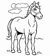 Horse Coloring Pages Printable Toddler sketch template