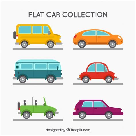 Assortment Of Different Types Of Vehicles In Flat Design