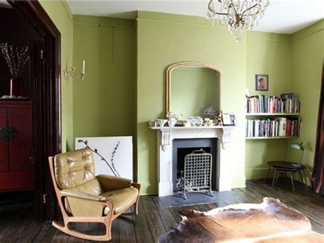 Fresh Green Living Room Interior And