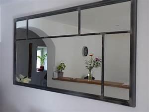 Miroir Fenetre Maison Du Monde : art industriel cadre miroir type atelier sur mesure ~ Teatrodelosmanantiales.com Idées de Décoration