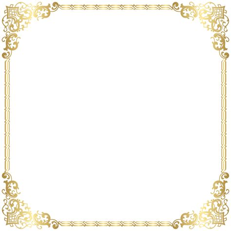 gold border frame transparent png clip gallery yopriceville high quality