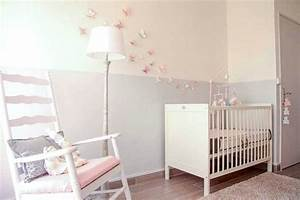stunning deco chambre bebe fille gris et rose images With deco chambre bebe gris