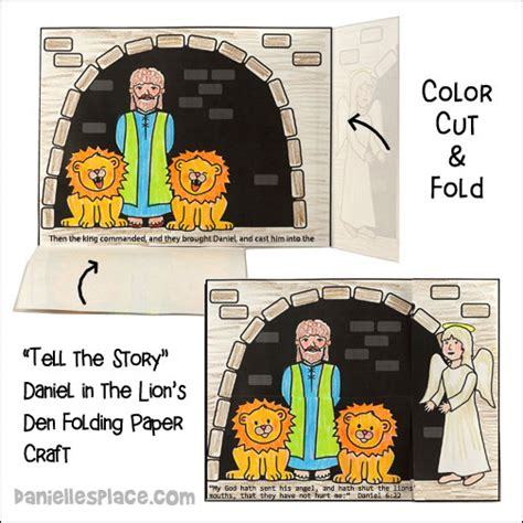 daniel bible crafts and for children 391 | daniel lions den story b