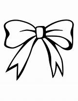 Bow Coloring Drawing Bows Pages Christmas Clipart Pink Library Clip Ribbon Butterfly Stencils sketch template