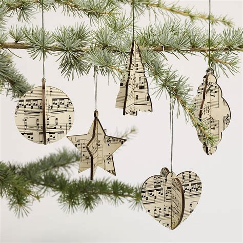 christmas tree decorations musical notes holliday