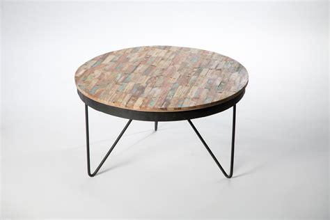 table basse bois recycle table basse ronde bois recycl 233 color 233 meubles et rangements par sweet mango