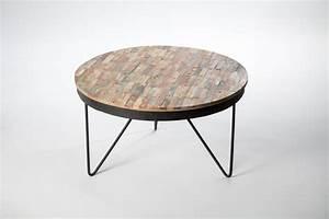 Table Basse Ronde Bois Metal : table basse ronde bois table a manger moderne maisonjoffrois ~ Teatrodelosmanantiales.com Idées de Décoration