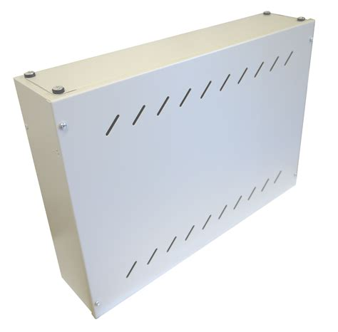 slimline wall mount vertical network switch rack cabinet colour light grey network cabs