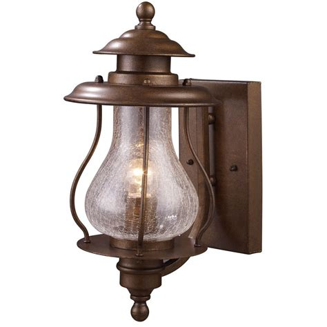 outdoor wall light with clear glass in coffee bronze