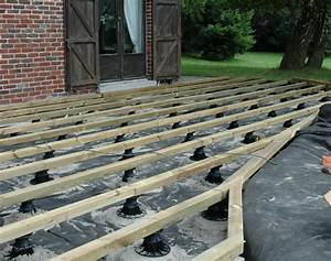 Support Terrasse Bois : faire une terrasse en bois sur plot ~ Premium-room.com Idées de Décoration
