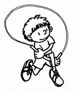 Rope Jump Coloring Drawing Sketch Template Pages Getdrawings Popular Skills sketch template