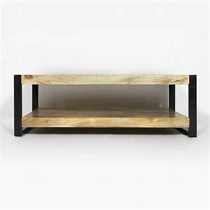 Table Basse Style Industriel : table basse industrielle deux plateaux made in meubles ~ Melissatoandfro.com Idées de Décoration