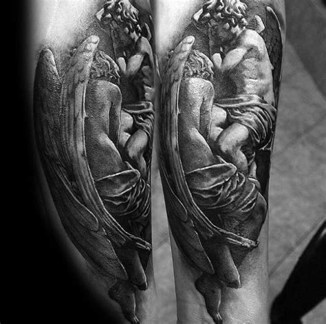 stunning angel statue tattoo designs  angel