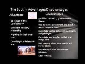 North and South Advantages Civil War