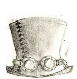 Steampunk Top Hat Drawing