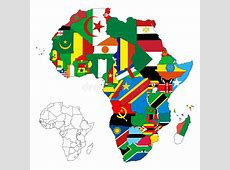Africa Continent Flag Map stock vector Image of geography