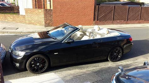 2007 Bmw 335i Convertible Black With Cream Leather