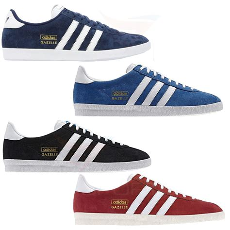 Original Blue Black adidas gazelle og trainers sneakers originals suede