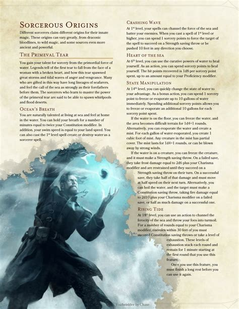 dnd 5e homebrew character classes creation dragons dungeons origins sheet elemental sorcerer subclasses characters edition dragon board e5 sorcerous pathfinder