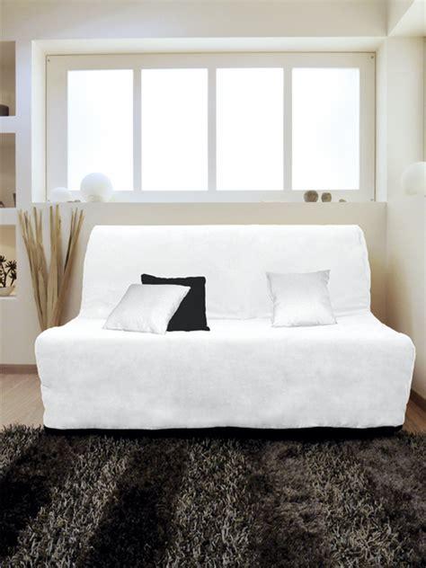 canape bz 140 housse pour canapé bz adaptable couleur blanc pas cher