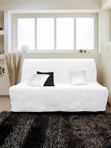 Housse Pour Bz : housse pour canap bz adaptable couleur blanc pas cher ~ Teatrodelosmanantiales.com Idées de Décoration