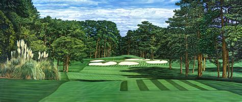 Golf And Sports By Lane> Golf Paintings Of The 7th And