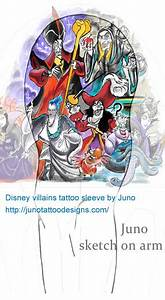 Disney villains tattoo | Juno Tattoo Art - Professional ...
