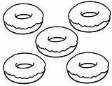 Donut Coloring Printable Donuts Simple Yummy Template Sheets Doughnut Disney Dibujos Pintar Coloringfolder Queso Kawaii Colorear Donas Getcolorings Junk Preschool sketch template