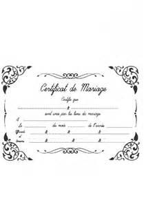 certificat mariage certificat de mariage laïque 1 photo cérémonie de mariage