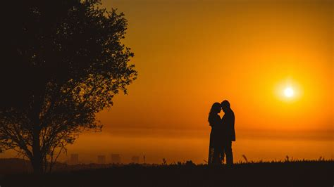 Images are for personal, non commercial use. Couple Romantic Sunset 5K Wallpapers | HD Wallpapers | ID #26452
