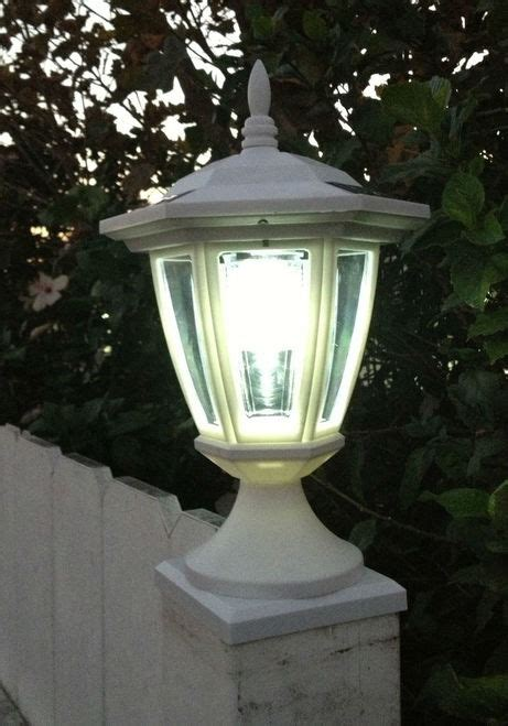 solar deck post lights solar deck post cap lights with carriage lanterns wood