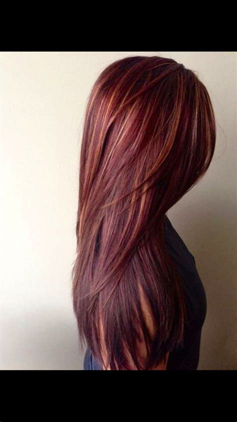 Gorgeous Burgundy Red Hair With Blondish Undertones Long