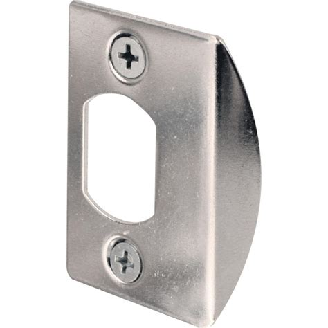door strike plate prime line chrome standard deadlatch door strike plate e