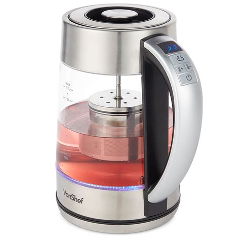 kettle vonshef glass electric kettles tea