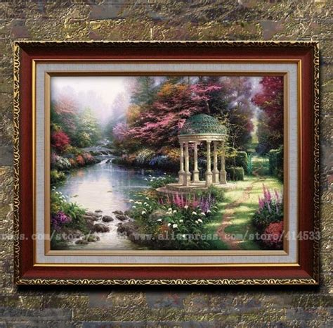 home interiors kinkade prints thomas kinkade prints of oil painting the garden of prayer garden landscape painting home decor