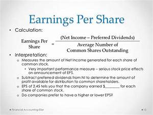 Earnings Per Share As A Measure Of Financial Performance ...