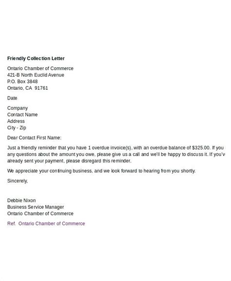 collection letter template debt collection letters for unpaid invoices viqoo club 11219
