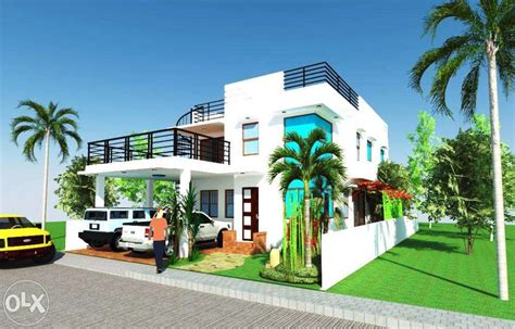 Modern Design House with Roof Deck for 12m x 20m = 240 sq