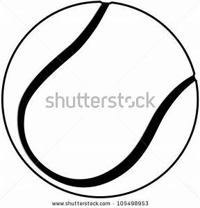 Tennis Ball Outline - Cliparts.co