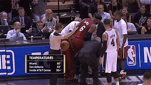 LeBron James Carried to the Bench, Spurs Win Game 1 | The ...
