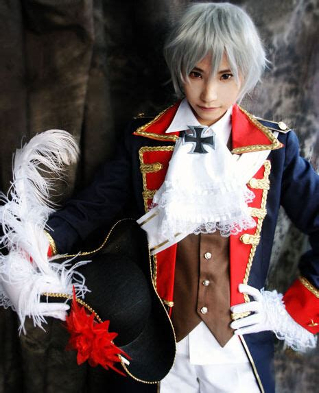 Axis Powers Hetalia Prussia Cosplay Military Uniform Seven ...