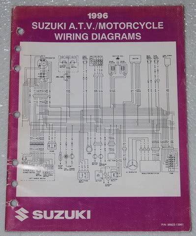 Suzuki Motorcycle Atv Wiring Diagrams Manual